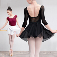 芭蕾舞裙舞蹈成人练功服半身纱裙儿童跳舞的短裙子系带雪纺一片裙