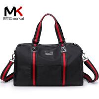 莫尔克(MERKEL)新款女运动休闲手提旅行健身包男士韩版出差单肩行李包男旅游袋