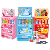 韩国变形警车POLI网红售卖机声光果汁贩卖机投币过家家玩具