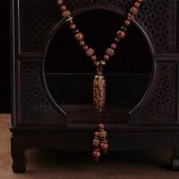 天珠玛瑙菩提根西藏配饰民族风毛衣链复古项链长款