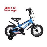 【当当自营】嘟嘟天使儿童自行车男女童车12寸/14寸/16寸男童单车3岁-6岁-9岁小孩自行车脚踏车开拓者 14寸蓝高