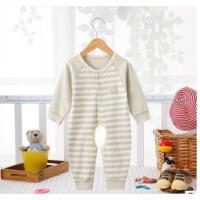 班杰威尔 春夏新生儿0-3-6个月爬服 彩棉婴儿连体衣服 纯棉宝宝连体哈衣