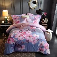 磨毛四件套纯棉2.0m床双人加厚被套床单1.8床上用品四件套全棉1.5