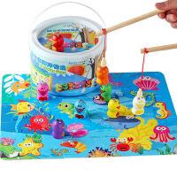 巧之木钓鱼玩具磁性1-2-3岁周岁男宝宝女孩男孩益智小孩子木质儿童玩具 数字钓鱼