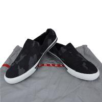 Prada男士迷彩布面一脚蹬休闲鞋4D2986