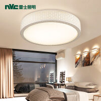 LED吸顶灯 爱马仕 三色分控卧室灯 圆形卧室灯 现代简约灯饰大气温馨吸顶灯