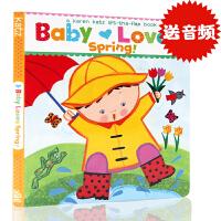 原版英文启蒙Baby Loves Spring!: A Karen Katz Lift-the-Flap Book 翻