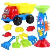 儿童沙滩玩具车套装沙漏女男孩宝宝挖沙铲子和桶玩具