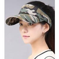 韩版潮流大头棒球帽 女士空顶遮阳帽 骑车防晒防紫外线凉帽