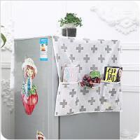 创意无纺布布艺冰箱防尘储物罩家用长款布艺冰箱收纳挂袋