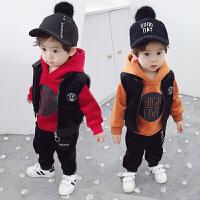 男童秋冬套装儿童1-3岁5宝宝三件套