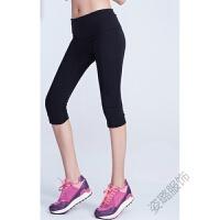 运动休闲裤女薄款七分裤 弹力运动跑步女紧身裤 均码