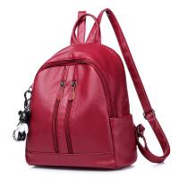 女士包包双肩包女新款韩版搭时尚休闲大容量软皮双背包
