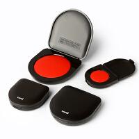 日本Uni三菱迷你朱肉印台多规格耐光防潮速干便携印泥
