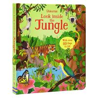 【首页抢券300-100】Usborne Look Inside the Jungle 看里面之丛林 儿童科普启蒙纸板翻