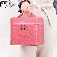 门扉 化妆盒 创意韩版便携式收纳包旅行手提化妆品储物箱家居日用多功能大容量整理收纳袋