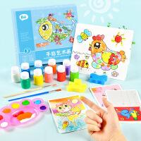 儿童手指画颜料水彩画幼儿园宝宝手印画画可水洗绘画涂鸦套装