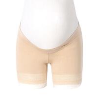 享受孕孕妇内裤防走光打底安全裤蕾丝边交叉托腹内裤粘纤三分裤