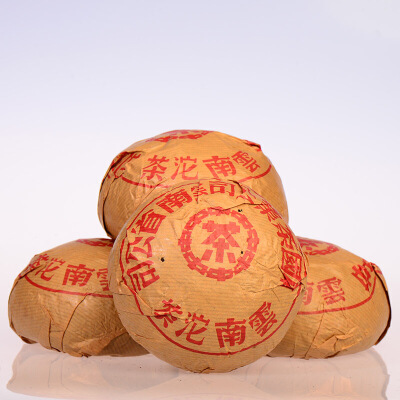 【两个一起拍:几十年熟沱茶】90年代 中茶 红印沱茶 古树熟茶 500克/个