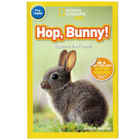 英文原版绘本 National Geographic Kids pre-Readers:Hop Bunny跳 小兔子