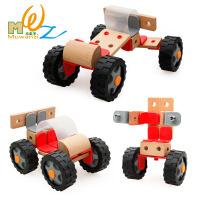 木丸子 儿童拼插拆装组合木制直升机飞机模型 益智男孩玩具.