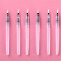 晨光97879自来水笔 水溶软毛笔 大中小号 储水毛笔长杆 水彩画笔 固体水彩颜料画笔