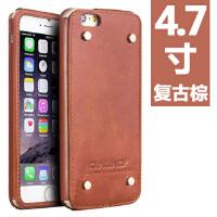 iphone6 手机壳 苹果6s 4.7手机套真皮保护壳简约保护皮套