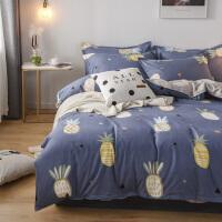 加厚磨毛床品四件套被套贴边床单枕套贴边套件