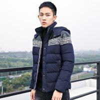 2017冬季新款男士连帽加厚短款羽绒服男韩版青年学生修身款外套潮