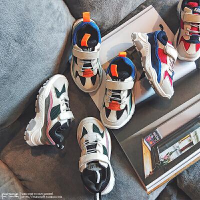 儿童运动鞋加绒男童跑步鞋棉鞋女童鞋