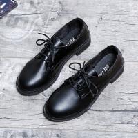 小皮鞋女英伦风复古2019春秋季新款中跟粗跟百搭学生网红单鞋子潮