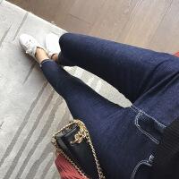 谜秀 牛仔裤女2017秋装新款韩版修身百搭休闲铅笔裤chic长裤潮