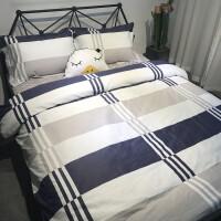 简约北欧风四件套棉纯棉网红款宿舍被套床单人床上用品三件套4