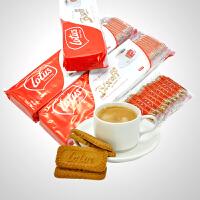 促销 lotus和情焦糖饼干312.5g*3包每包50片休闲零食品