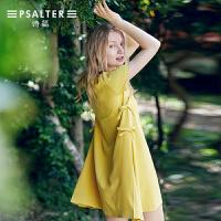 诗篇女装2018夏季新款女宽松简约A型连衣裙