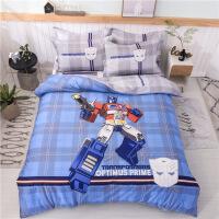 裸睡全棉卡通动漫大版四件套 纯棉三件套床单款床笠款儿童床上用品 1.5米床 被套200x230床单250x250