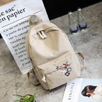 帆布双肩包包女包日韩版潮学生风高中学生书包初中生旅行背包