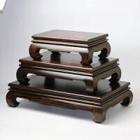 方形香炉底座 红木长方形木质佛像底座石头奇石花盆花瓶香炉实木茶壶工艺品架子