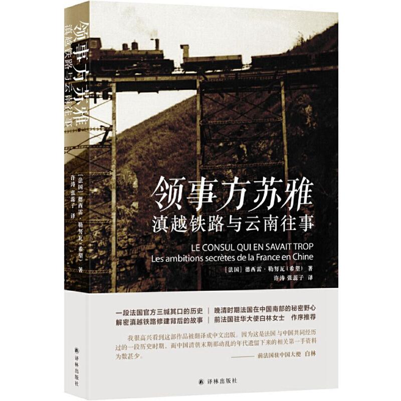 领事方苏雅:滇越铁路的野心 解密滇越铁路修建背后的故事,揭示晚清时期法国在中国南部的秘密野心