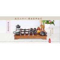 金镶玉 紫砂茶具茶壶茶杯整套小柯木实木茶盘 陶瓷整套茶具套装特价 博古紫砂套组BG-ZS