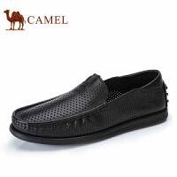 【每满100减50 满200减100】camel骆驼男鞋 夏季新品 镂空透气皮鞋商务休闲 男士皮鞋