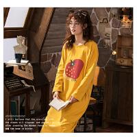 【NJR&秋冬新品】南极人睡衣女士家居服睡裙可外穿棉质舒适透气KH6215