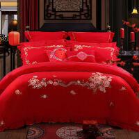 婚庆四件套结婚床上用品纯棉被套床单四件套 爱永恒