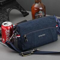 男士包包单肩包斜挎包手拿包运动休闲迷你小包牛津纺布尼龙帆布潮 蓝色