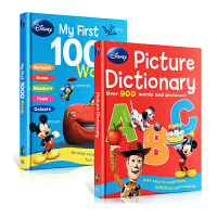 Disney My First 1000 Words Disney My Picture Dictionary 英文原版 迪士尼2本精装儿童图画字典辞典