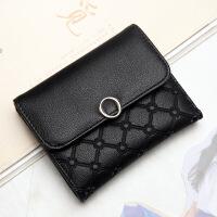 2018新款女士短款钱包韩版大容量多卡位女包简约时尚搭扣卡包现货
