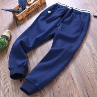 大童男童运动裤秋冬季儿童装一体绒保暖收口卫裤