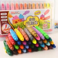 掌握旋转油画蜡笔儿童水彩绘画笔12/24/36/48色水溶性炫彩棒