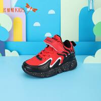 【1件2折后:44.6元】红蜻蜓男童鞋儿童篮球鞋新款冬季透气缓震大童鞋时尚运动鞋
