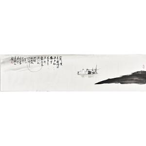 当代实力派画家黄开元四尺��裁禅意画gh03800
